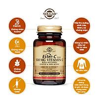 NHẬP KHẨU USA CHÍNH HÃNG - Viên uống bổ sung vitamin C, hỗ trợ chống oxy hóa Solgar Ester-C® Plus 500 mg Vitamin C