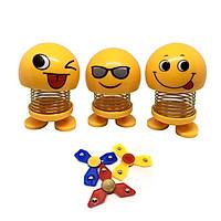 Bộ 3 thú nhún Emoji trang trí - Tặng bộ 3 con quay Spinner