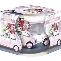 Ly nến thơm tinh dầu Bispol Flower Mail 100g PTT04320 - lan, hồng, thược dược
