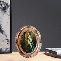 Picture Frames with Embossed Furnishing, Vintage Antique Photo Frame for Tabletop & Wall Display Home Decor