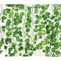 Combo 5 dây lá nhân tạo trang trí không gian nhà cửa, quán cafe, nhà hàng, thiết kế tự nhiên như thật