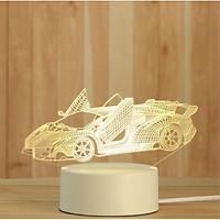 Đèn 3d mô hình xe hơi, mô tô siêu chất cho nam