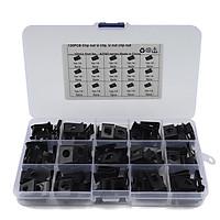 120pcs Speed Fasteners Black-Zinc U Nuts Self Tapping No.14 Screw Spire Clip Interior Trim Panels