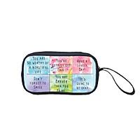 Bóp đựng bút viết, mỹ phẩm TROY in Slogan dễ thương