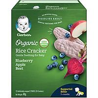 Bánh Gạo Ăn Dặm Gerber Rice Cracker Việt Quất Táo Củ Cải Đỏ 48g