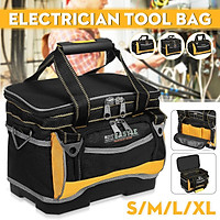 S/M/L/XL Organizer Tool Bag Heavy Duty Electrician Tool Storage W/ Handle Shoulder Strap Multifunctional Maintenance C