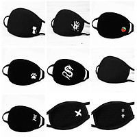 Cotton Mask Breathable Anti Dust UV Protection Face Mouth Mask for Kids Teens Adult Black