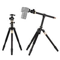 Andoer TTT-011 185cm/ 72.83Inch Professional Photography Tripod Monopod Camera Horizontal Tripods Aluminum Alloy 360°