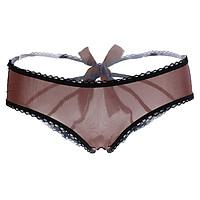 (23-29 inch) Women Thongs G-string Panties T-Back Open Knickers Lingerie Underwear - Blue Pink Red Purple Brown
