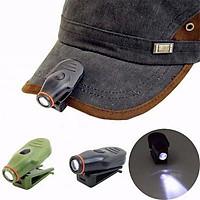 Đèn pin mini, đèn led gắn mũ mini cắm trại nhỏ gọn