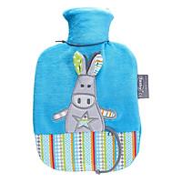 Túi chườm nóng lạnh Fashy Đức dòng bọc lông cừu dành cho trẻ em - Hoạ tiết lừa xanh