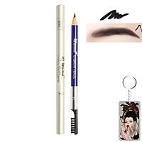 Chì vẽ mày sắc nét Aroma Eyebrow Pencil Hàn Quốc No.11 Balck tặng kèm móc khoá