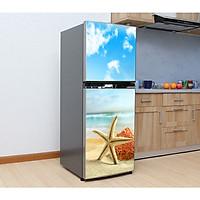 Decal dán trang trí tủ lạnh chống thấm cao cấp(sao biển) - 70 x 180