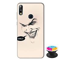 Ốp lưng điện thoại Asus Zenfone Max Pro M2 hình Smile tặng kèm giá đỡ điện thoại iCase xinh xắn - Hàng chính hãng