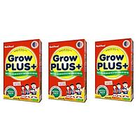 BỘ 3 HỘP SỮA NUTIFOOD GROW PLUS ĐỎ DÀNH CHO TRẺ BỊ SUY DINH DƯỠNG THẤP CÒI - HỘP GIẤY 400G