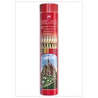 Chì Màu Lục Giác Castell -115828 - 36 Màu Dài (Hộp Thiếc Tròn) Faber Castell