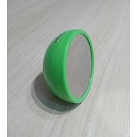 Đồng hồ báo thức để bàn đa năng gương đèn led mini 8x8cm