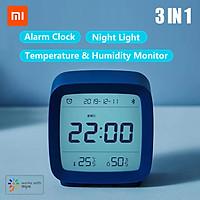 Đồng hồ báo thức thông minh Xiaomi Qingping BT Alarm Clock Temperature Humidity Monitoring Night Light 3 in 1 Multifunctional Clock Work With Mijia