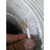 Dây 4 lõi thi công camera quan sát (màu trắng, 200m , lõi mềm)