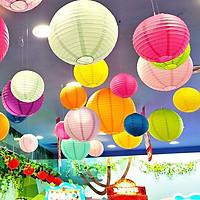 Đèn lồng giấy lụa trang trí ngoài trời decor quán cafe , trà chanh, quán ăn lễ hội - đủ màu đủ size lựa chọn