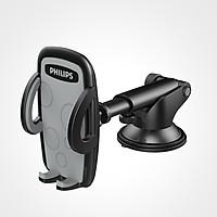 Giá đỡ điện thiết kế nhỏ gọn thoại xoay 360 độ cao cấp  kết hợp 2 trong 1 Kẹp hốc gió và gắn trên taplo Philips DLK35002, Giá đỡ hỗ trợ các thiết bị có độ rộng màn hình từ 4-6 inch,