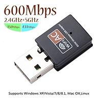 [Có sẵn] Nâng cấp WiFi 5G dễ dàng với USB WIFI, card mạng usb, 600Mbps hai băng tầng 2.4 / 5GHz,cho máy bàn PC và lapto