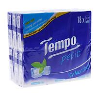 Lốc khăn giấy cao cấp Tempo Petit Icy Menthol 18 gói