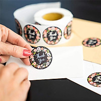 500pcs/roll Cute Flower Thank You Series Round Sticker Seal Labes DIY Decorative Gifts Package Labels for School Stationery Supplies