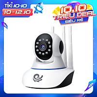 Camera Ip Wifi Quan Sát Trong Nhà Model CC1021 Xoay 360 Độ, Độ Phân Giải 2.0Mpx, Hỗ Trợ Đàm Thoại 2 Chiều, Tích Hợp Đèn Hồng Ngoại - Chính Hãng
