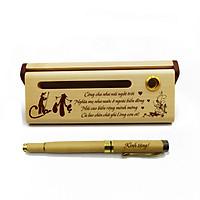 Bộ bút gỗ cao cấp tặng cha mẹ_mẫu 01 (Kèm hộp đựng sang trọng)