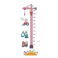 Miếng dán sticker Cleverbees đo chiều cho bé cao từ 60 cm tới 180 cm dán tường trang trí hình hoạt hình ngộ nghĩnh dễ dán Mẫu Clickmua45- Nhiều mẫu lựa chọn