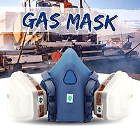 7 in 1 Gas Mask Double Filter Half Face Anti-dust Set  Protection Respirator7 in 1 Gas Mask Double Filter Half Face Anti-dust Set Protection Respirator