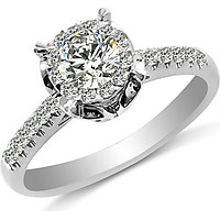 Nhẫn kim cương nữ vàng 18k