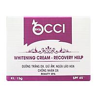 Kem Trắng Da, Tái Tạo, Cân Bằng Độ Ẩm BIO - OCCI Whitening Cream Recovery Help (15g)