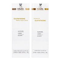 [Combo Tắm trắng - Dưỡng trắng toàn diện Hazel] - 20 Minutes Glutathione và Glutathione Perfect Body Cream