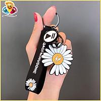 Móc khóa balo hoa cúc/hình giày thể thao 2 mặt treo cặp sách, chìa khóa, hộp bút, món quà lưu niệm dễ thương E401