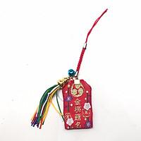 Túi gấm Omamori học tập đỏ hoa