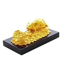 Linh vật tuổi Tý: Tượng Chuột Chiêu Tài Tấn Lộc mạ vàng 24K | Mua quà tặng cao cấp cho sinh nhật Sếp, đối tác, khách hàng