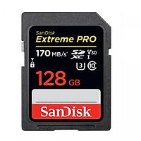 Thẻ Nhớ SDXC Sandisk Extreme Pro 170MB/s V30 128GB - Hàng Nhập Khẩu