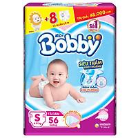 Tã Dán Bobby Siêu Mỏng Thấm Gói Lớn S56 (56...