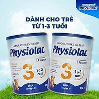 Bộ 2 lon sữa bột Physiolac 3 900g (Bổ sung DHA)