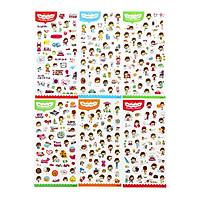 Bộ 6 tấm sticker trang trí nhật ký cuộc sống