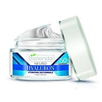 Kem dưỡng ẩm sáng da Bielenda Neuro Hyaluron Hydrating Anti-Wrinkle Face Cream Day/ Night 50+ 50ml