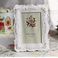 Khung ảnh để bàn hoa hồng đính đá viền trong kẻ sần 15x20cm