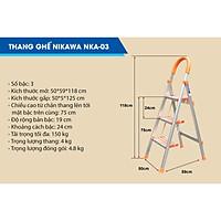 Thang ghế Nikawa NKA gọn gàng và dễ dàng sử dụng. 3 bậc, 4 bậc và 5 bậc