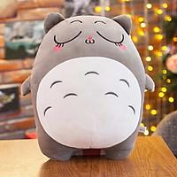 Gấu Bông Gối Ôm Totoro Xinh Xắn Size 40cm Tặng Khẩu Trang Thời Trang Vải Su Màu Ngẫu Nhiên