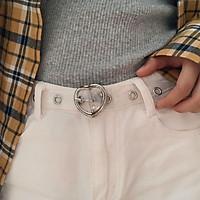 Dây thắt lưng nhựa màu trong suốt có khóa tròn thời trang cho nữ