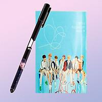 Set bút in hình BTS và sổ tay in hình BTS tặng sticker BTS