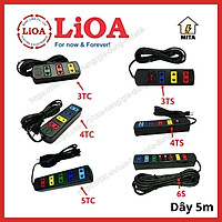 Ổ Cắm Điện LiOA Phổ Thông - Ổ Cắm Điện 3 lỗ - 4 lỗ - 5 lỗ - 6 lỗ - dài 5m