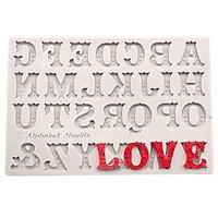 Khuôn silicon 24 chữ cái nghệ thuật